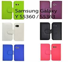 New Pu Leather Wallet Flip Case Cover For Samsung Galaxy Y S5360 S5363