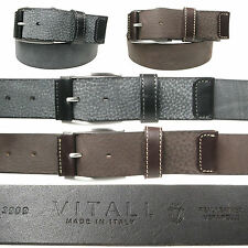 Vitali Genuine Luxury Leather Mens Italian Leather Jeans Belt Made in Italy 3909
