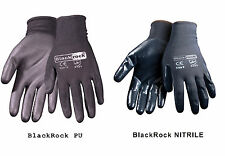 BlackRock High Quality Nitrile PU coated Work Gloves Builders Grip Gardening