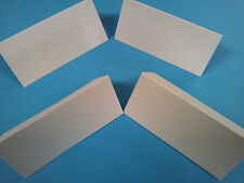 100 IVORY/WHITE LINEN/ HAMMER FINISH TABLE PLACE NAME CARDS - WEDDINGS ETC