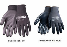 24 Pair Nitrile PU coated Safety Work Gloves Builders Grip -- Hand Protection
