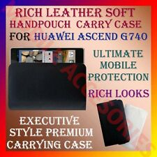 ACM-RICH LEATHER SOFT CARRY CASE for HUAWEI ASCEND G740 MOBILE HANDPOUCH COVER