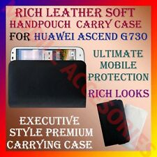 ACM-RICH LEATHER SOFT CARRY CASE for HUAWEI ASCEND G730 MOBILE HANDPOUCH COVER