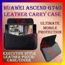 ACM-HORIZONTAL LEATHER CARRY CASE for HUAWEI ASCEND G740 MOBILE POUCH COVER NEW