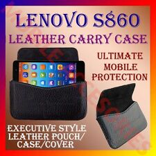 ACM-HORIZONTAL LEATHER CARRY CASE for LENOVO S860 MOBILE RICH POUCH COVER HOLDER