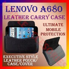 ACM-HORIZONTAL LEATHER CARRY CASE for LENOVO A680 MOBILE POUCH COVER HOLDER CASE