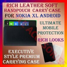 ACM-RICH LEATHER SOFT CARRY CASE for NOKIA XL ANDROID MOBILE HANDPOUCH COVER NEW
