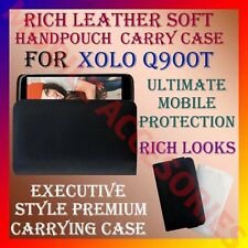 ACM-RICH LEATHER SOFT CARRY CASE for XOLO Q900T MOBILE HANDPOUCH COVER POUCH NEW