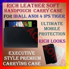 ACM-RICH LEATHER CARRY CASE for IBALL ANDI 4 IPS TIGER MOBILE HANDPOUCH COVER