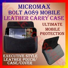 ACM-HORIZONTAL LEATHER CARRY CASE for MICROMAX BOLT A089 MOBILE POUCH COVER CASE