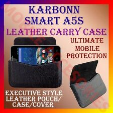 ACM-HORIZONTAL LEATHER CARRY CASE for KARBONN SMART A5s MOBILE RICH POUCH COVER