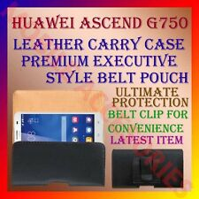 ACM-BELT CASE for HUAWEI ASCEND G750 MOBILE LEATHER CARRY POUCH COVER CLIP NEW