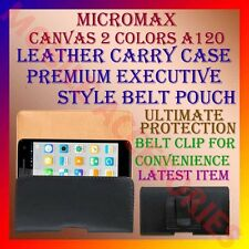 ACM-BELT CASE for MICROMAX CANVAS 2 COLORS A120 LEATHER CARRY POUCH RICH COVER