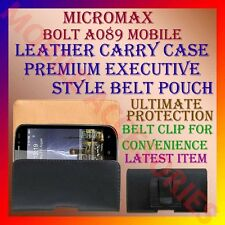 ACM-BELT CASE for MICROMAX BOLT A089 MOBILE LEATHER CARRY POUCH COVER HOLDER NEW