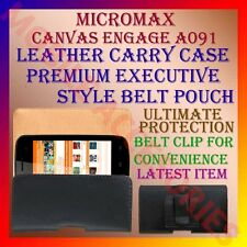 ACM-BELT CASE for MICROMAX CANVAS ENGAGE A091 MOBILE LEATHER CARRY POUCH COVER