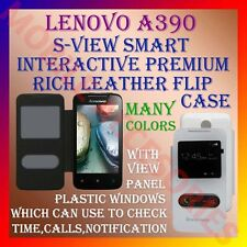 ACM-S-VIEW SMART INTERACTIVE PREMIUM LEATHER FLIP CASE for LENOVO A390 COVER NEW