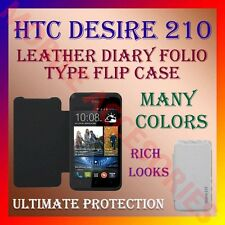 ACM-LEATHER DIARY FOLIO FLIP CASE for HTC DESIRE 210 MOBILE FRONT & BACK COVER