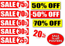 sale signage %off posters for shops 6 of your choice