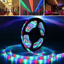 5M Bande Ruban LED Strip Flexible RGB 5050 SMD étanche+24/44Key IR Remote+12V 2A