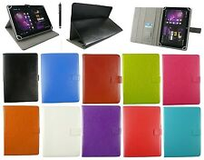 "Universal Wallet Case Cover Stand Folio for 9.7"" 10.1""Tablet with Black Stylus"