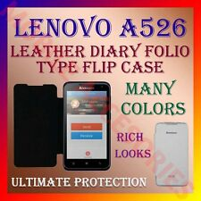 ACM-LEATHER DIARY FOLIO FLIP FLAP CASE for LENOVO A526 MOBILE FRONT & BACK COVER