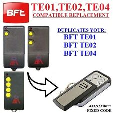 BFT TE01, BFT TE02, BFT TE04 replacement remote control transmitter, BFT clone