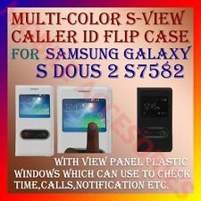 ACM-S-VIEW NEW INTERACTIVE LEATHER FLIP CASE for SAMSUNG GALAXY S DUOS 2 S7582