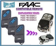FAAC TM 433DS-1 / FAAC TM 433DS-2 / TM 433DS-3 compatible remote control, clone