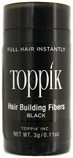 TOPPIK HAIR BUILDING FIBERS NATURAL KERATIN PROTEIN 3g/0.11 Oz. (CHOOSE COLOR)