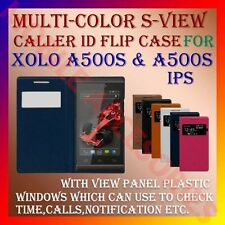 ACM-S-VIEW SMART INTERATIVE RICH LEATHER FLIP CASE for XOLO A500s & A500s IPS