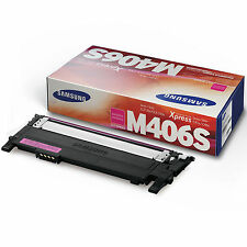 GENUINE SAMSUNG CLT-M406S/ELS (M406S) MAGENTA LASER PRINTER TONER CARTRIDGE