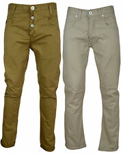 New Mens Reluctant Hero Cuffed Panelled Chinos Bryce Delion