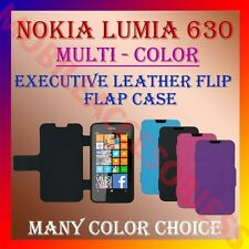 ACM-EXECUTIVE MULTI-COLOR LEATHER FLIP CASE for NOKIA LUMIA 630 FULL COVER CASE