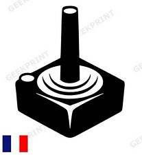 STICKER AUTOCOLLANT MANETTE CONSOLE ATARI 2600 JOYSTICK RETROGAMING JEUX VIDEO