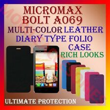 ACM-LEATHER DIARY FOLIO FLIP FLAP CASE for MICROMAX BOLT A069 FRONT & BACK COVER
