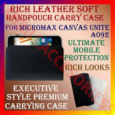 ACM-RICH LEATHER SOFT CARRY CASE for MICROMAX CANVAS UNITE A092 HANDPOUCH COVER
