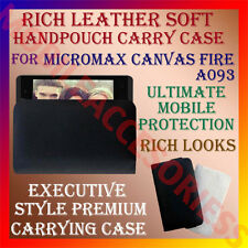 ACM-RICH LEATHER SOFT CARRY CASE for MICROMAX CANVAS FIRE A093 HANDPOUCH COVER