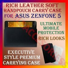 ACM-RICH LEATHER SOFT CASE of ASUS ZENFONE 5 A501CG MOBILE HANDPOUCH COVER POUCH