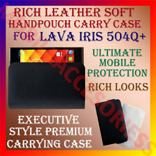 ACM-RICH LEATHER SOFT CARRY CASE for LAVA IRIS 504Q+ MOBILE HANDPOUCH COVER CASE