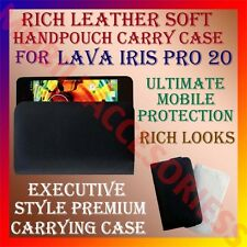 ACM-RICH LEATHER SOFT CARRY CASE for LAVA IRIS PRO 20 MOBILE HANDPOUCH COVER NEW