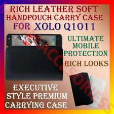 ACM-RICH LEATHER SOFT CARRY CASE for XOLO Q1011 MOBILE HANDPOUCH COVER HOLDER