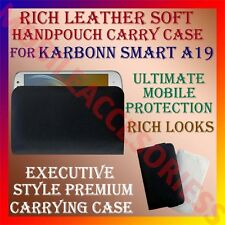 ACM-RICH LEATHER SOFT CARRY CASE for KARBONN SMART A19 MOBILE HANDPOUCH COVER