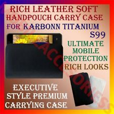 ACM-RICH LEATHER SOFT CARRY CASE for KARBONN TITANIUM S99 HANDPOUCH COVER POUCH