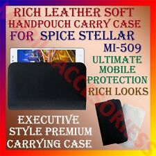 ACM-RICH LEATHER SOFT CARRY CASE for SPICE STELLAR MI-509 MOBILE HANDPOUCH COVER
