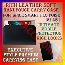 ACM-RICH LEATHER CARRY CASE for SPICE SMART FLO POISE MI-451 HANDPOUCH COVER NEW