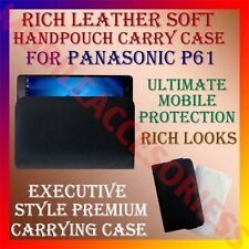 ACM-RICH LEATHER SOFT CARRY CASE for PANASONIC P61 MOBILE HANDPOUCH COVER POUCH