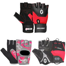 Ladies Cycling Gloves Fingerless Mitts Bike Bicycle Fitness Weight Workout Wear