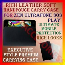 ACM-RICH LEATHER SOFT CARRY CASE for ZEN ULTRAFONE 303 PLAY HANDPOUCH COVER