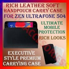 ACM-RICH LEATHER SOFT CARRY CASE for ZEN ULTRAFONE 504 MOBILE HANDPOUCH COVER