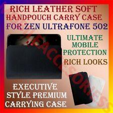 ACM-RICH LEATHER SOFT CARRY CASE for ZEN ULTRAFONE 502 MOBILE HANDPOUCH COVER
